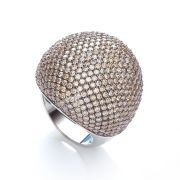 J-JAZ Micro Pave' Big Cocktail Ring with 283 Pink Cz